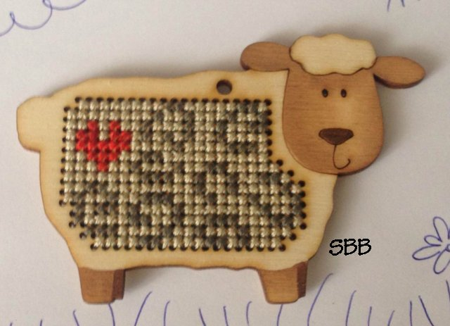 Romys Creations Designs Stitch In Wood ~ Sheep