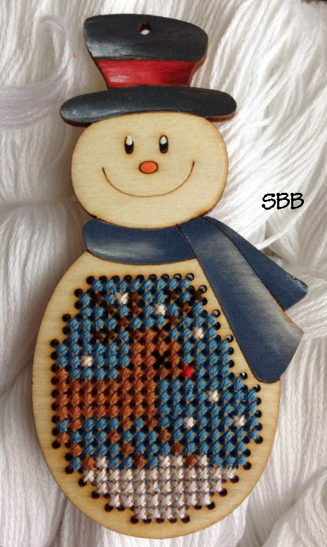Romys Creations Designs Stitch In Wood ~ Snowman