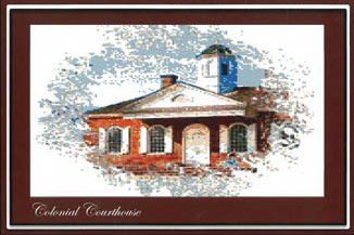 Ronnie Rowe Designs Colonial Series #1 Colonial Courthouse