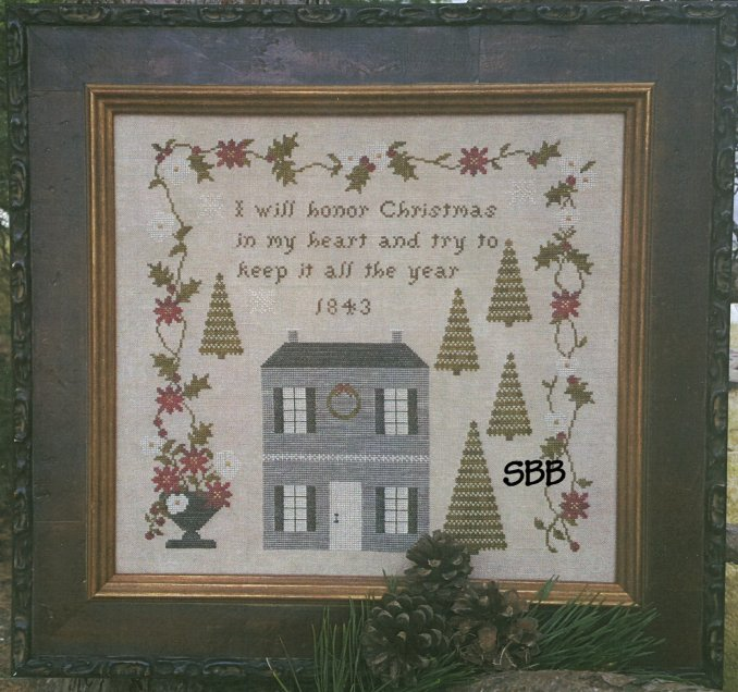Samplers Not Forgotten Christmas In My Heart 1843