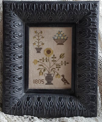 Samplers Not Forgotten  Fleurs 1805