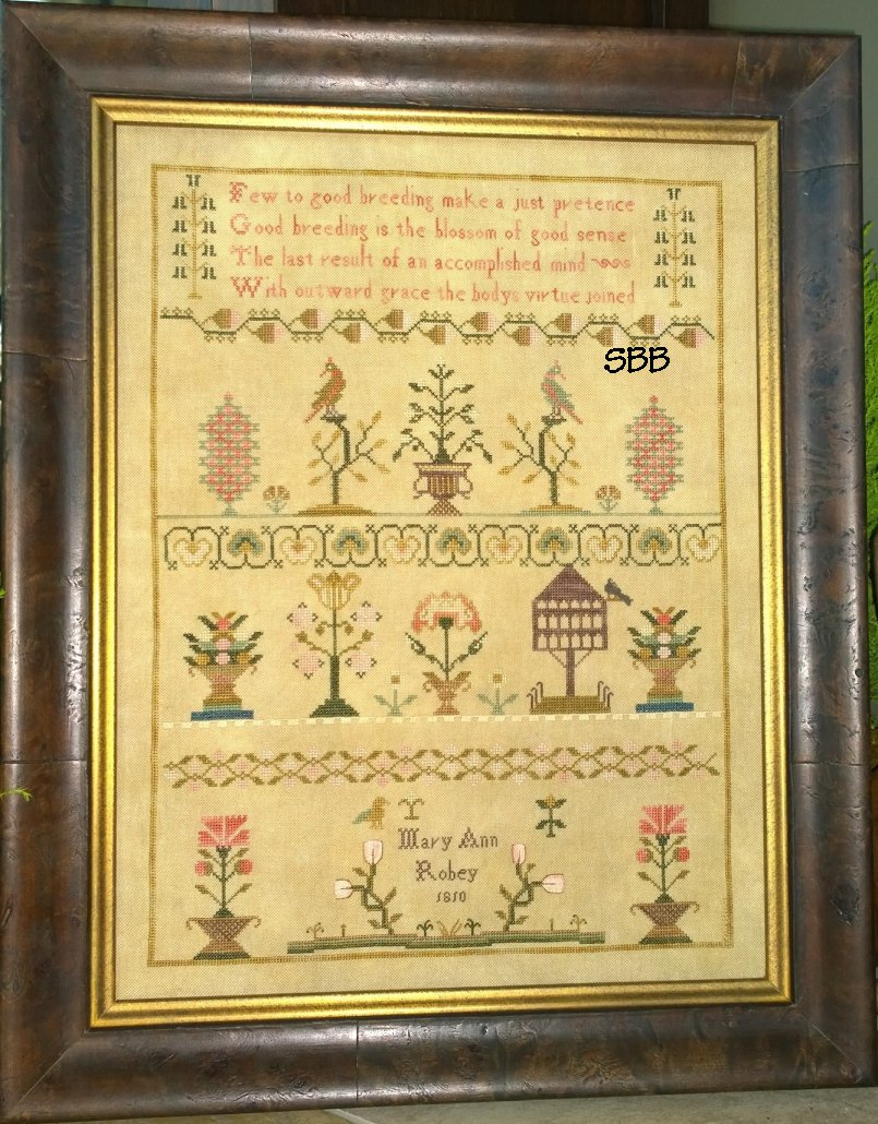 Samplers Not Forgotten Mary Ann Robey 1810