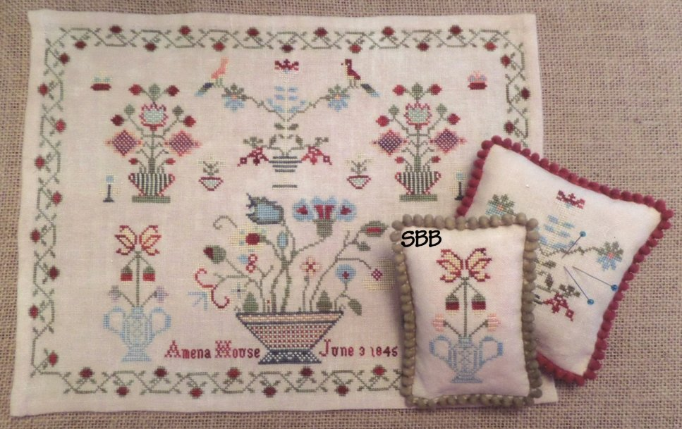 Samplers Remembered Closeout  Amena House 1845