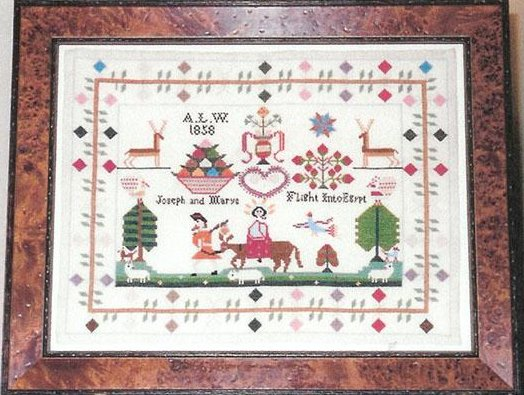 Samplers Remembered Closeout  Christmastime Sampler A.W.L 1858