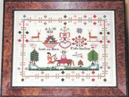 Samplers Remembered  Christmastime Sampler A.W.L 1858