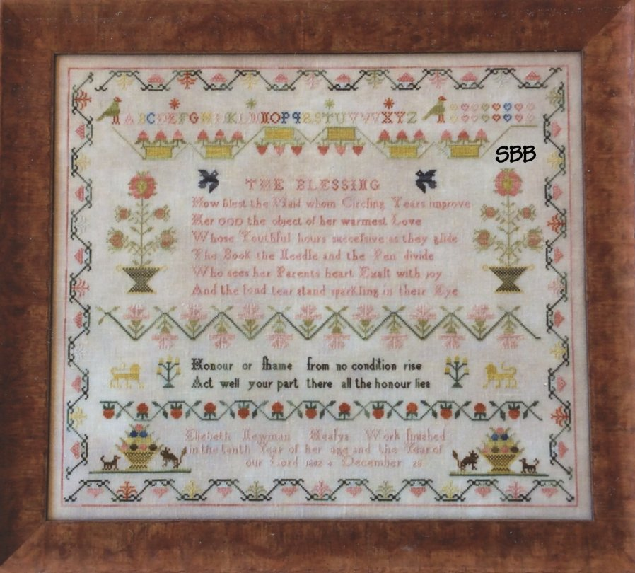 Samplers Remembered Elizabeth Newman Heafys 1802