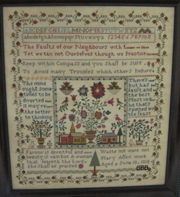 Samplers Remembered Closeout  Village Square Sampler