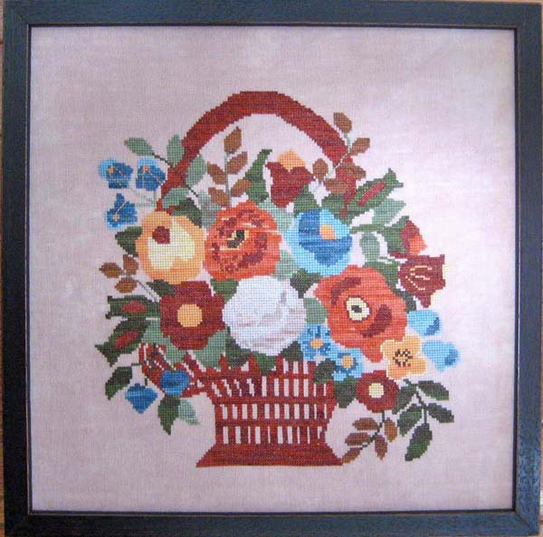 Samplers Revisited Baltimore Album Quilt Fall Flower Basket