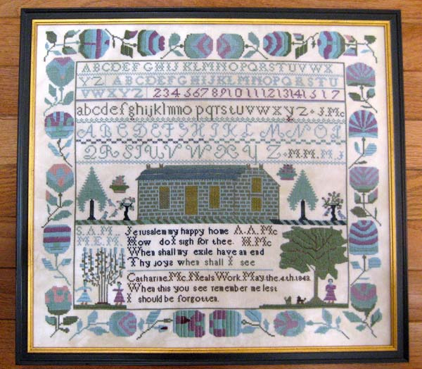 Samplers Revisited Catharine McNeal 1843