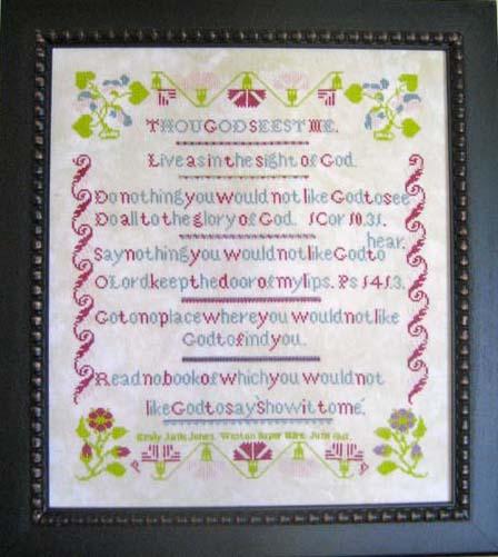 Samplers Revisited Emily Jane Jones 1861