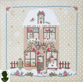 Sara Christmas Avenue - Family House (includes buttons)