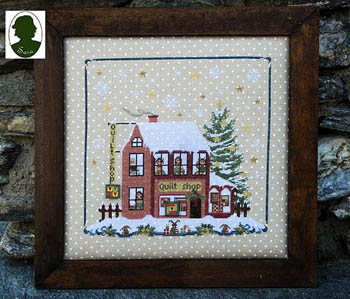 Sara Christmas Avenue - Quilt Shop (includes buttons)