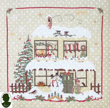 Sara Christmas Avenue - Snowmen's House (includes buttons)