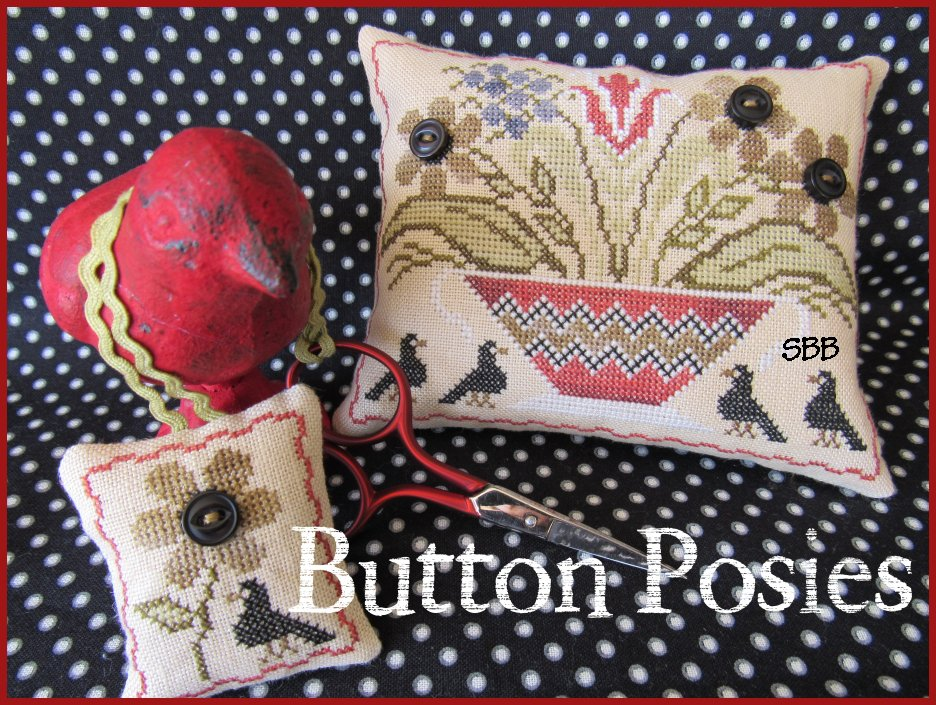 The Scarlett House  Button Posies