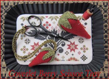 The Scarlett House  Coverlet Berry Scissor Tray