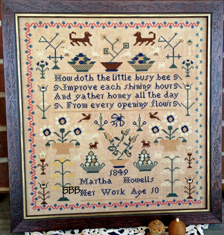 Scattered Seeds Samplers Martha Howells 1849
