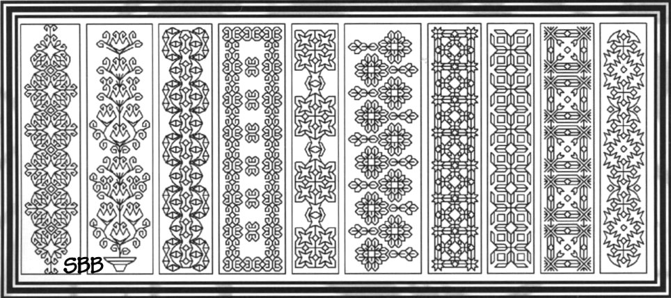 Seba Designs Blackwork Bookmarks