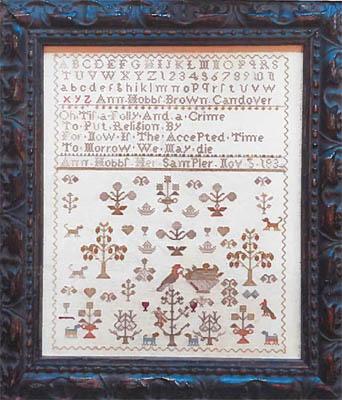 Shakespeare's Peddler Spring Sampler ~ Ann Hobbs 1834