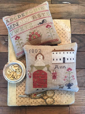 Stacy Nash Primitives Ann's Sampler Pinkeeps