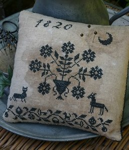Stacy Nash Primitives Blackwork Pinkeep