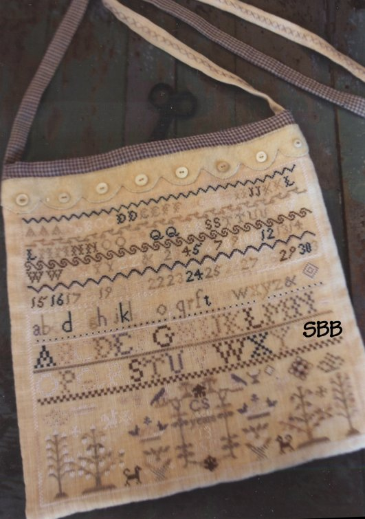 Stacy Nash Primitives Buttermilk & Blue Sampler Sewing Bag
