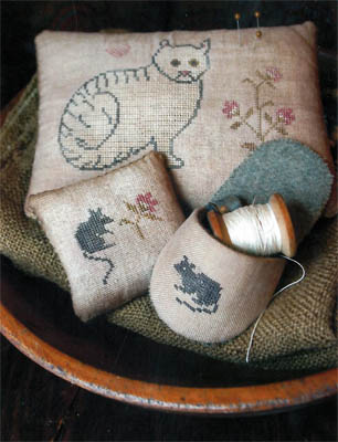 Stacy Nash Primitives Cat & Mouse Pinkeeps & Slipper