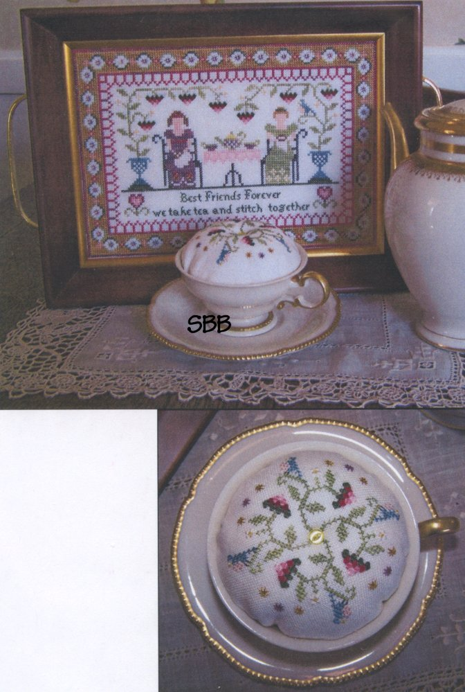 The Stitching Parlor Best Friends Forever Tray & Pincushion