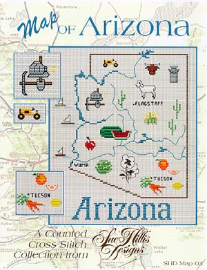 Sue Hillis Designs Arizona Map