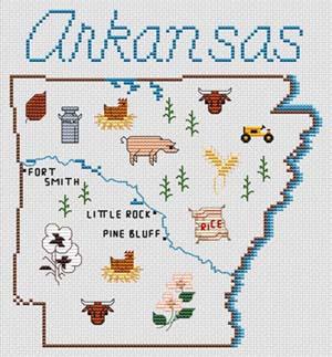 Sue Hillis Designs Arkansas Map