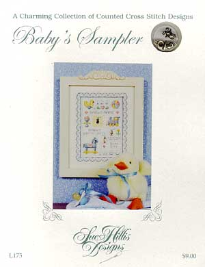 Sue Hillis Designs Baby's Sampler with Charms (00-1294)