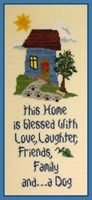 The Stitchworks Home Blessing - Dog