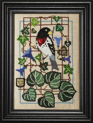 Tellin Emblem Birdie And Glories ~ Grosbeak