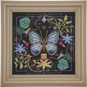 Tellin Emblem Butterfly In Bloom ~ Green Banded Blue