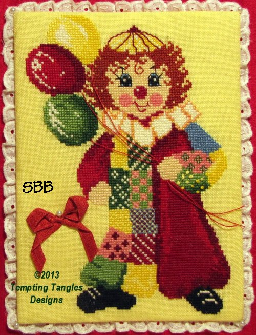 Tempting Tangles Calico Clown with Finishing Instructions by Judy Odell