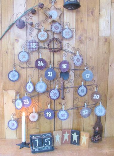 Thistles Advent Calendar Punchneedle