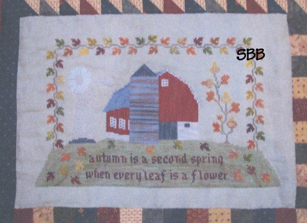 Thistles Autumn Splendor ~ Red Barn