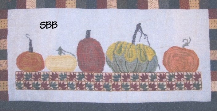 Thistles Autumn Splendor ~ Row Of Pumpkins
