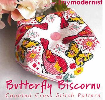 Tiny Modernist Inc.  Butterfly Biscornu
