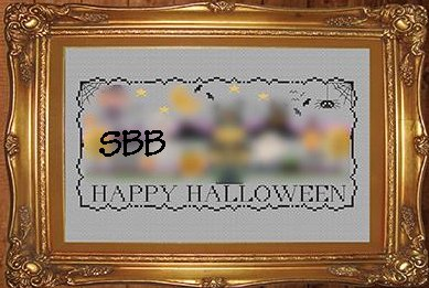 Tiny Modernist Inc.  Halloween Stitch A Long ~ Border
