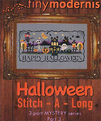 Tiny Modernist Inc.  Halloween Stitch A Long ~ Part 3
