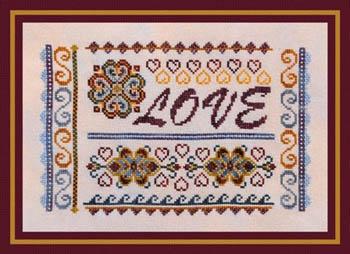 Turquoise Graphics & Design Love Sampler