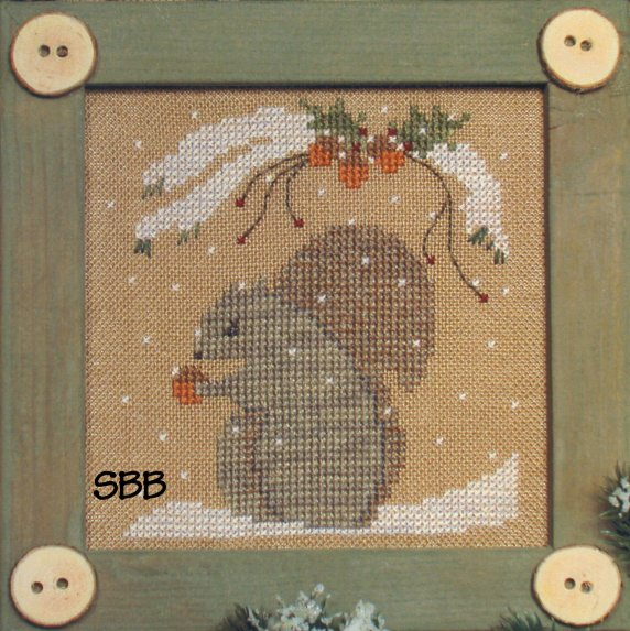 Victoria Sampler Designs by Cathy Jean CJVS16 Bitty Buttons Squirrel