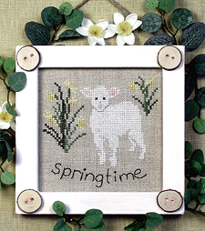 Victoria Sampler Designs by Cathy Jean CJVS22 Bitty Buttons Springtime