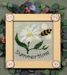 Victoria Sampler Designs by Cathy Jean CJVS23 Bitty Buttons  Summertime