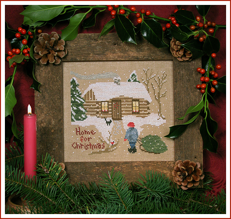 Victoria Sampler Designs by Cathy Jean CJVS26 Home For Christmas