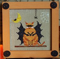Victoria Sampler Designs by Cathy Jean CJVS32 Fat Bat Cat
