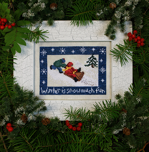 Victoria Sampler Designs by Cathy Jean CJVS34 Snow Much Fun