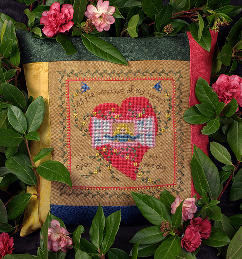 Victoria Sampler Designs by Cathy Jean CJVS44 Windows Of My Heart