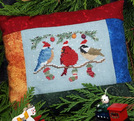 Victoria Sampler Designs by Cathy Jean CJVS62 Christmas Chirpers