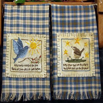 Victoria Sampler Designs by Cathy Jean CJVS63 Homespun Towels 1